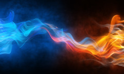 Blurry Bright Background Abstraction With Coloured Lines